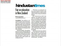 Hindustan Times, New Zealand Education